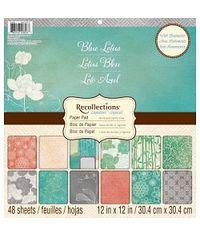BLUE LOTUS 12x12 Paper Pad