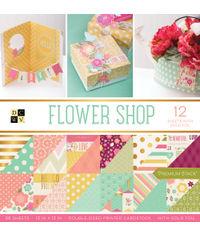 """Flower Shop - 12""""X12"""" Paper Pad"""