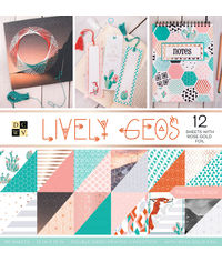 """Lively Geos - 12""""X12"""" Paper Pad"""