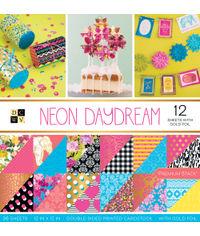 "Neon Daydream - 12""X12"" Paper Pad"