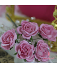 Curved Roses 35 MM - Pink