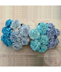 Curved Roses Combo - Blue