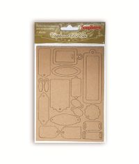 Craft Tags Chipboard Die Cuts, 2 Cards