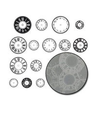Time Flies Clock - White