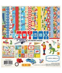 """Toy Box Double-Sided Collection Kit 12""""X 12"""""""