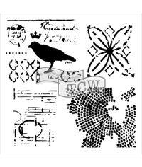 Raven Mosaic - Stencils