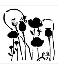 Poppy Garden - Stencils