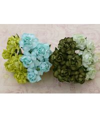 Curved Roses Combo - Green Tone