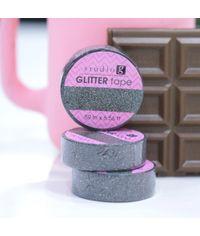 Black - Glitter Washi Tape