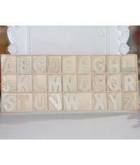 Wooden Alphabets #2 - 156 Pcs/Pack