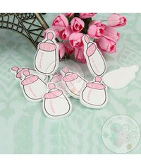 Wooden Baby Bottle - Pink