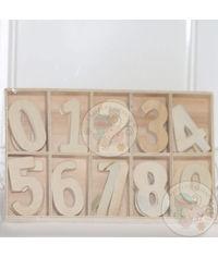 Wooden Numerals - 60 Pcs/Pack