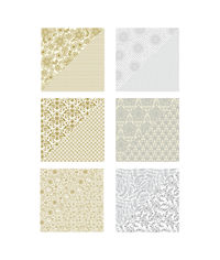"""Silver & Gold Printed Paper - 12""""x12"""""""