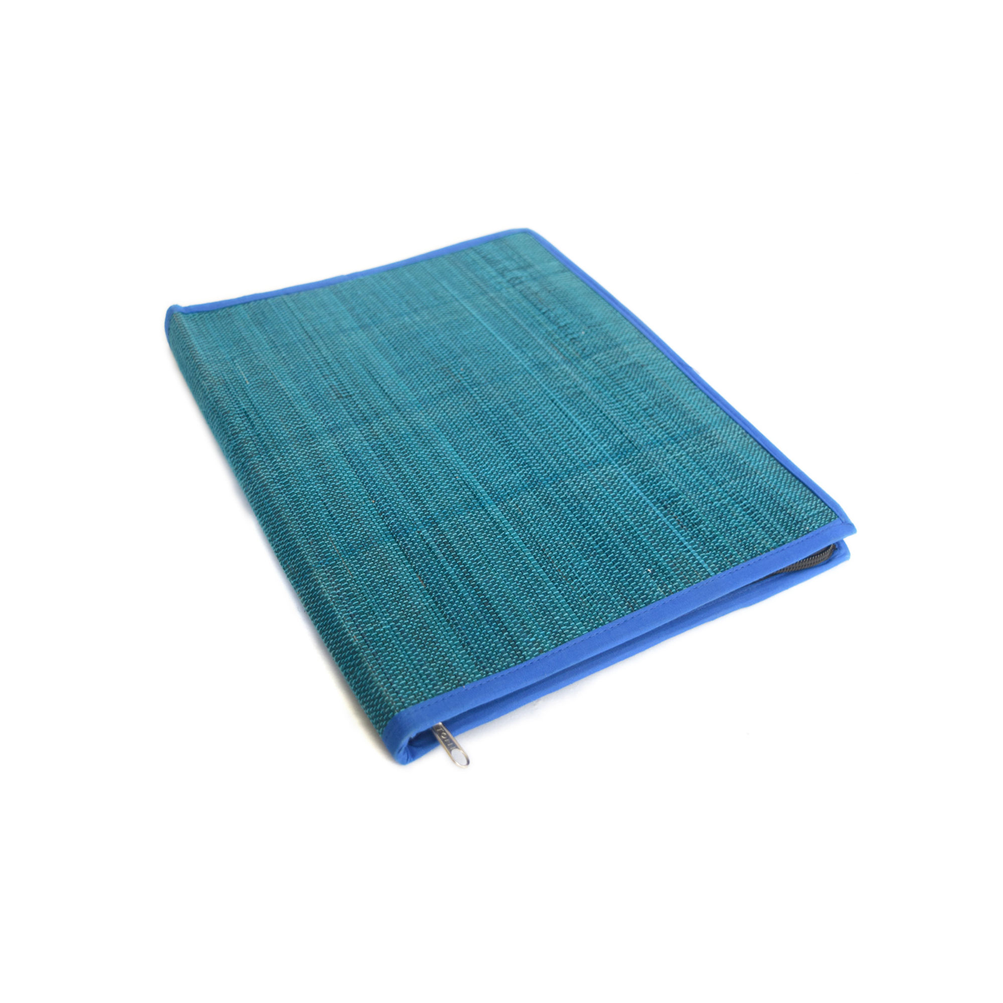 Blue File Folder With Zip