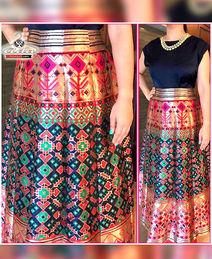 Heavy Art Silk Skirt Dress