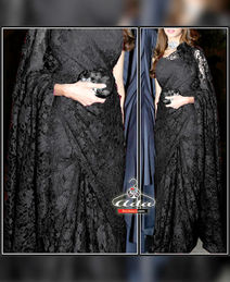 Black Saree Set