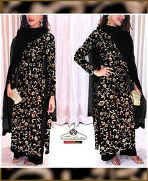 Black Zari Embroidered Dress