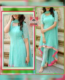 Stylish Greenish Blue Dress