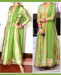 Lemon Green Ethnic Dress