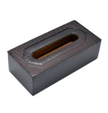 ALLIGATOR PRINT LEATHER TISSUE BOX