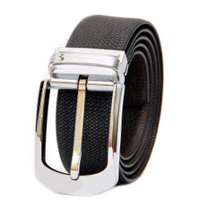 FORMAL REVERSIBLE LEATHER BELT WITH FRAME BUCKLE