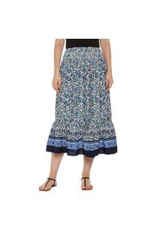 Multicolor Floral Midi Skirt