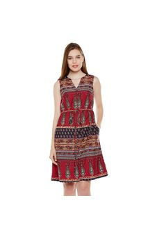 Multicolor Printed Dress