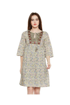 Paisley Print Tie-up Dress