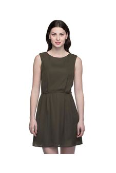 Women Khaki Shift Dress