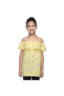 Girls Off-Shoulder Floral Dress