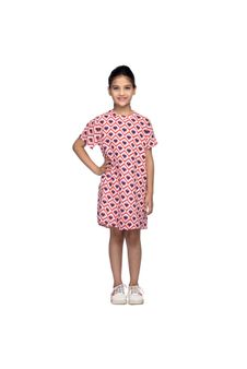 Girls Printed Shift Dress