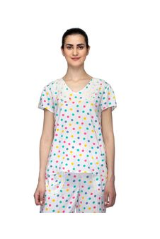 Polka Dot Print Nightwear Top