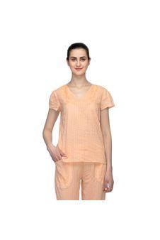 Orange Lace Nightwear Top