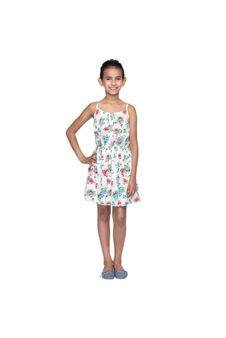 Girls Printed Strap Dress