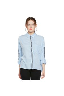 Blue Loose Fit Shirt