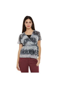 Multicolor Abstract Print Top