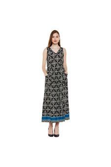 Multicolor Printed Maxi Dress