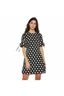 Black Polka Dots Shift Dress