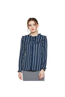 Frilled Button-down Shirt
