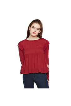 Solid Frilled Top
