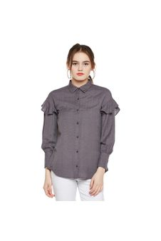 Solid Frilled Shirt
