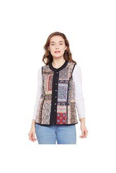 Multicoloured Button Down Jacket