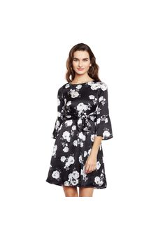 Floral Dress with Belt