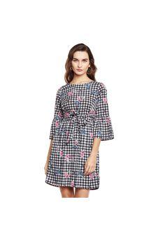 Checkered Dress with Belt