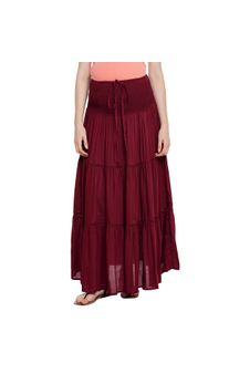 Maroon Maternity Skirt
