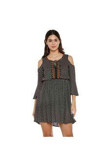 Black Cold-Shoulder Dress