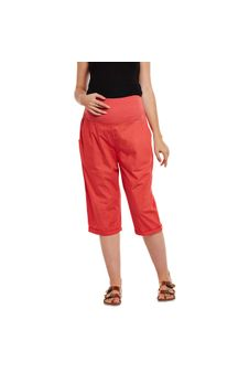 Red Elasticated Maternity Culottes