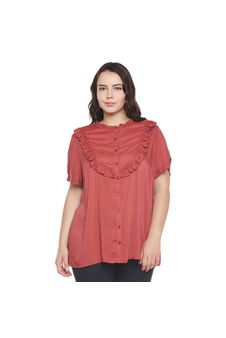 Frilled Plus Size Shirt