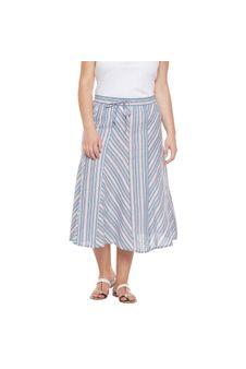 Plus Size Striped Skirt