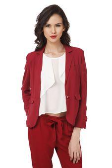 Women Red Blazer